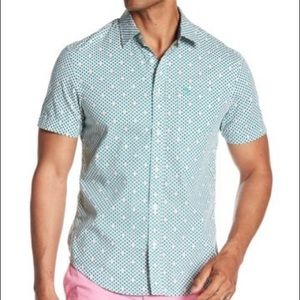 Men's Original Penguin Geo Palm Tree Button Down